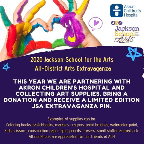 JSA Art Extravaganza partners with Akron Children's Hospital