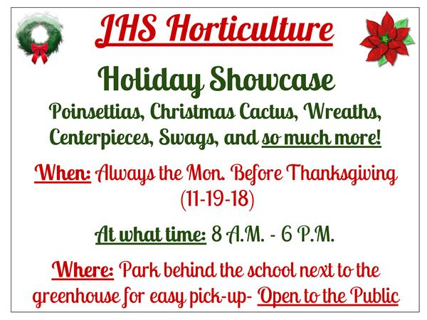 JHS Horticulture Holiday Showcase
