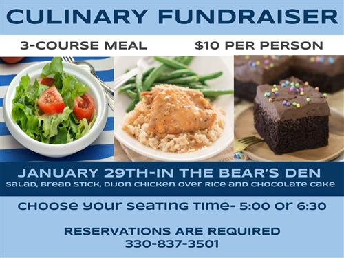 JHS Culinary Fundraiser Dinner - January
