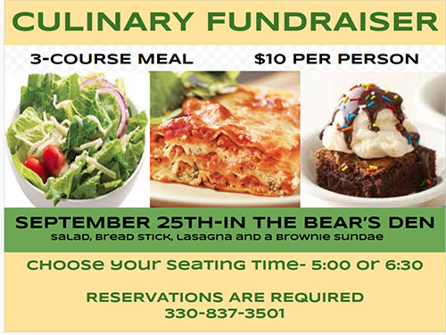 Culinary Fundraiser Dinner - Don't miss out!