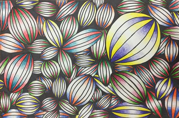 Line Design Op Art : Op art window on student show